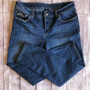 Faded Glory 14A Jeans Embellished EUC